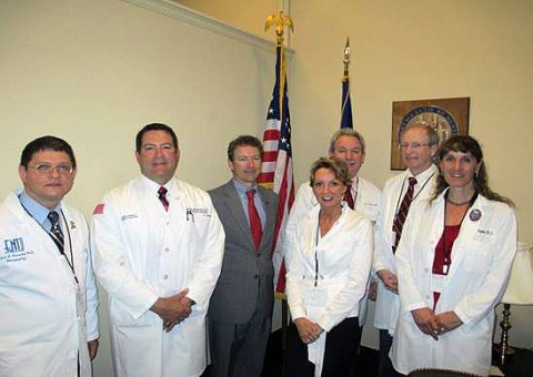 Senator Rand Paul with Doctor Mark Green and other doctors with Doctors 4 Patients Care