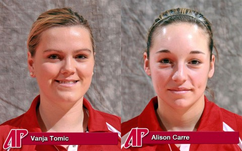 Vanja Tomic and Alison Carre named first-team All-OVC
