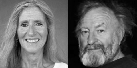 Poets Pam Uschuk (left) and William Pitt Root (right) will read on April 23rd at Austin Peay State University.