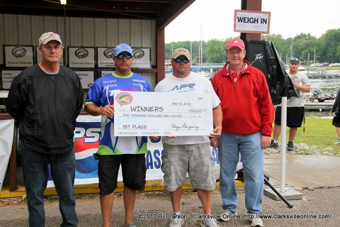 The team of Kevin Tidwell and Eric Shelton won the $5,000 first prize.