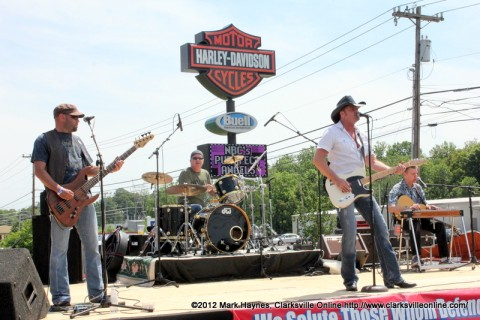 Buck McCoy performing at the Appleton Harley-Davidson Spring Open House Saturday.