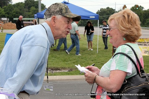 Tennessee State Representative John C. Tidwell represents District 74 at the Hilltiop BBQ on May 12th, 2012.
