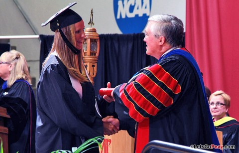 APSU student-athletes conferred degrees Friday. (Courtesy: Austin Peay Sports Information)