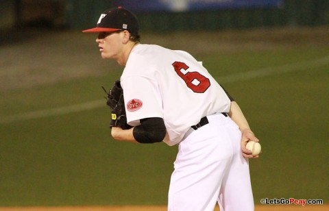 Starter Ryan Quick held SIUE to two runs over seven innings in Saturday's 6-2 victory. Austin Peay Baseball. (Courtesy: Brittney Sparn/APSU Sports Information)