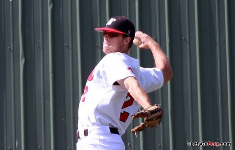 Center fielder Michael Blanchard had three hits and two RBI in the Govs loss at SIU Edwardsville, Sunday. Austin Peay Baseball. (Courtesy: Brittney Sparn/APSU Sports Information)