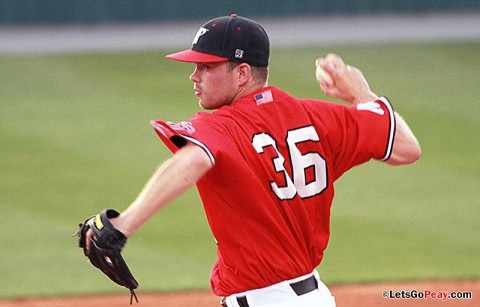 Sophomore pitcher Kacy Kemmer will make his first start as a Gov, Tuesday, at Belmont. Austin Peay Baseball. (Courtesy: Brittney Sparn/APSU Sports Information)
