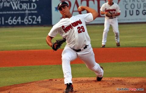 Starter Zach Toney went seven innings in Thursday's loss to Southeast Missouri. Austin Peay Baseball. (Courtesy: Austin Peay Sports Information)