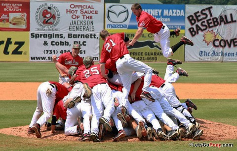 Austin Peay Governors Baseball are the 2012 OVC Baseball Champions.(Courtesy: Austin Peay Sports Information)