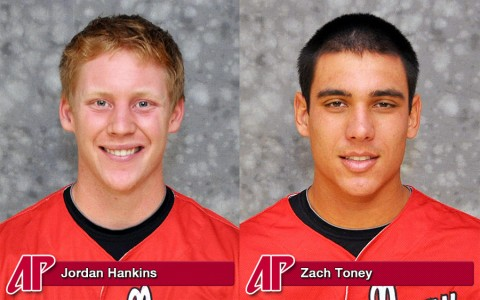 APSU Baseball's Jordan Hankins and Zach Toney named to 2012 All-OVC squad