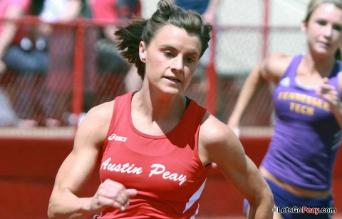 APSU Women's Track and Field's Chantelle Grey. (Courtesy: Brittney Sparn/APSU Sports Information)