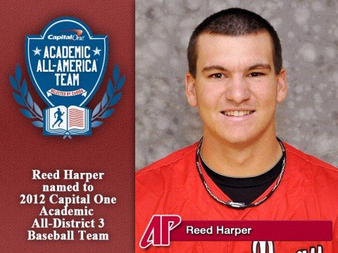 APSU Reed Harper name to 2012 Capital One Academic All-District 3 Baseball Team