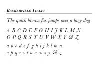 The Baskerville Font