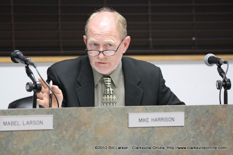 Clarksville-Montgomery County Regional Planning Chairman Mike Harrison expresses his concerns on spending taxpayers dollars on an investigation.