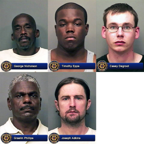 Clarksville Police Department reports Six Nabbed in Prostitution Sting