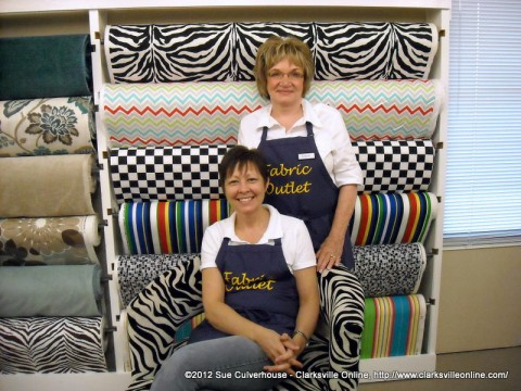 Fabric Outlet Owners Rose Pollard and Joyce Turner