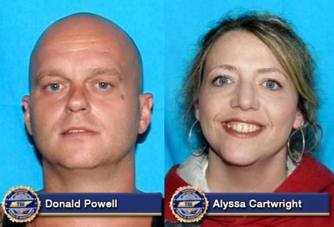 Donald Powell and Alyssa Cartwright