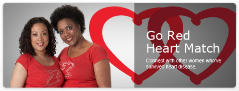 American Heart Association's Go Red Heart Match.