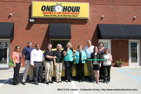 Harris One Hour Heating and Air Conditioning Green Ribbon Cutting Ceremony.