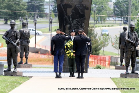 The laying of the wreath