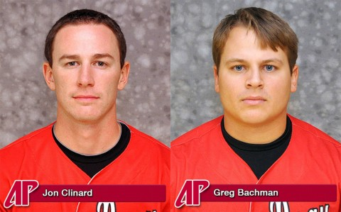 Austin Peay Baseball's Jon Clinard and Greg Bachman.