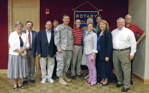 Major General James C. McConville with the Clarksville Sunrisse Rotary Club. (Photo by Steven Joseph)