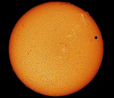 The Transit of Venus June 8th, 2012 taken by Paul Howell, George Whitney, Kirk Rogers,  Cornish, Maine USA