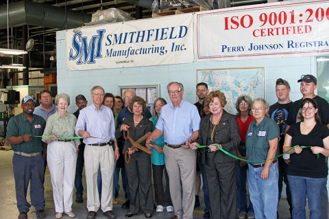 Smithfield Manufacturing Inc. Green Ribbon Cutting.