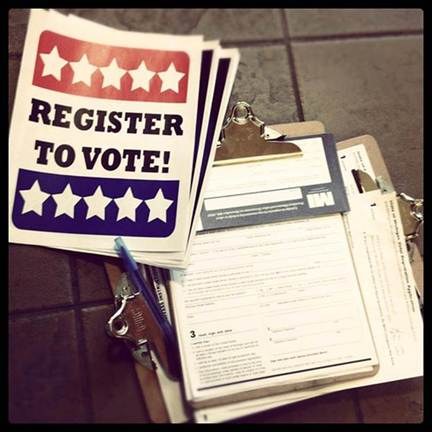 Register to Vote. Your Vote is Your Voice!