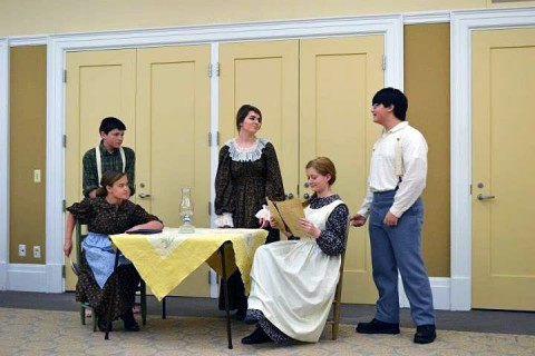 """The students wrote and performed a Civil War play titled """"A State in Chaos:  A Family in Two."""""""