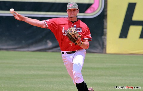 Junior shortstop Reed Harper was named to the Capital One Academic All-Distrct 3 squad. (Courtesy: Austin Peay Sports Information)