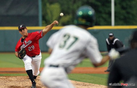 Starting pitcher Zach Toney limited Oregon to three runs in Friday night's loss in the NCAA's Eugene Regional. Austin Peay Baseball. (Courtesy: Austin Peay Sports Information)