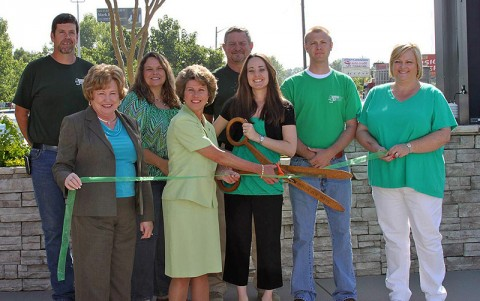 Action Air Conditioning Service Inc. Green Ribbon Cutting ceremony.