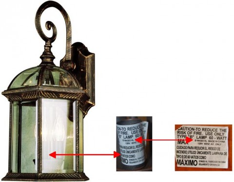 Bel Air Lighting Recalls Outdoor Wall Mount Lanterns