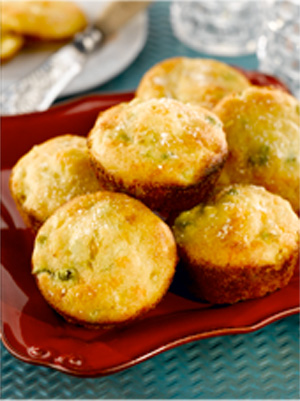 Cheesy Chile Corn Muffins