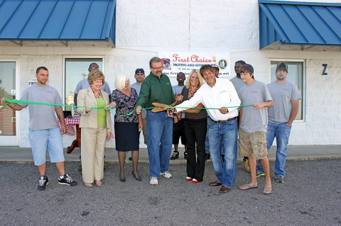 Green Ribbon Cutting for First Choice Moving and Storage.