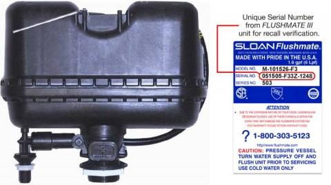 Flushmate Recalls Flushmate® III Pressure-Assisted Flushing System