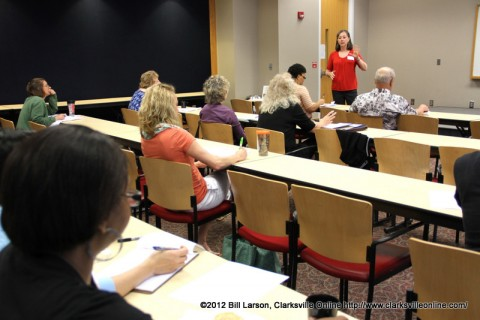 Tracy Barrett at the 2012 Clarksville Writer's Conference