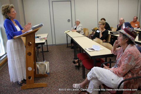 Marianne Walker at the 2012 Clarksville Writer's Conference
