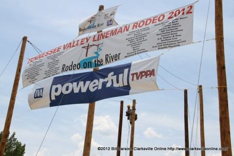 Tennessee Valley Electric Lineman Rodeo at McGregor Park in Clarksville, Tennessee