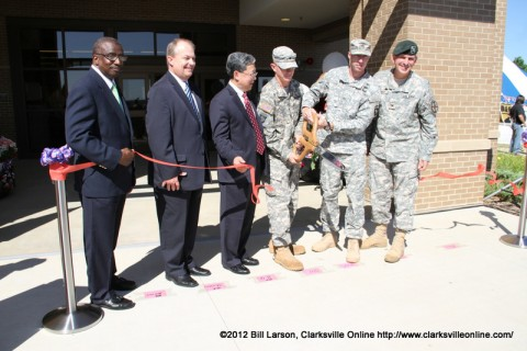 The Ribbon Cutting officially opens the new DeCA commissary facility on Fort Campbell