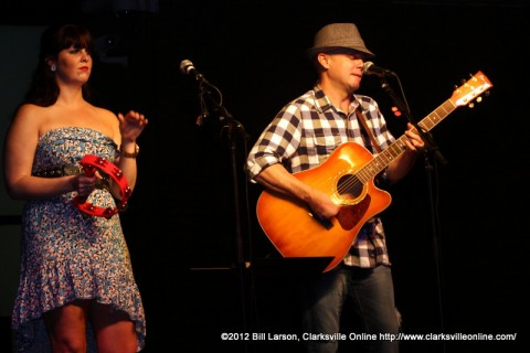 Samantha Hawkins and John Winters perform at Jammin' in the Alley on Friday night1