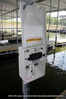 The Utility Service at one of the Marina slips