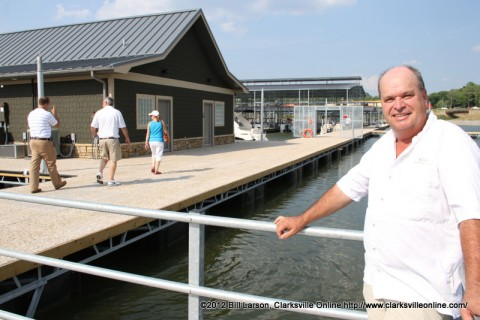 Clarksville Marina's General Manager Dave Signs