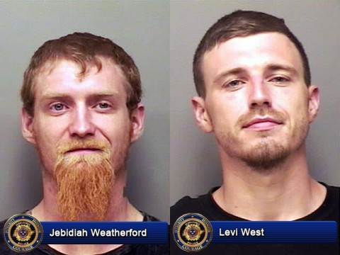 Jebidiah Weatherford and Levi West