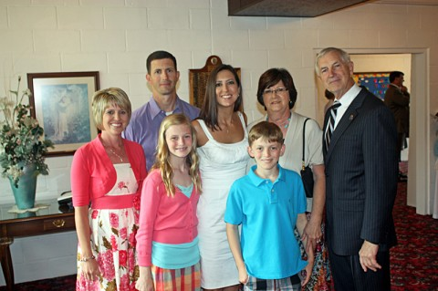 John C. Tidwell and his family at Easter.