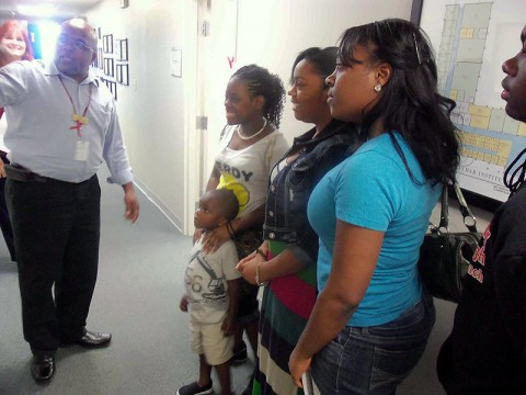 Youth learn about the various programs available at Daymar.