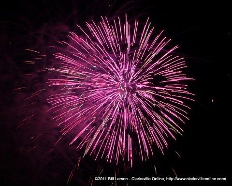 The fireworks display from last years MWR Independence Day Celebration.