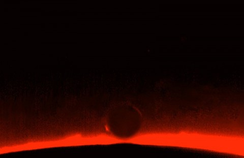 The arc of Venus photographed in 2004 by Riccardo Robitschek and Giovanni Maria Caglieris of Milan, Italy.