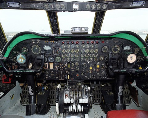 Accident investigators learned that the enormous and confusing array of dials and gauges in older aircraft cockpits were sometimes a link in the mishap chain. (Image credit: NASA)