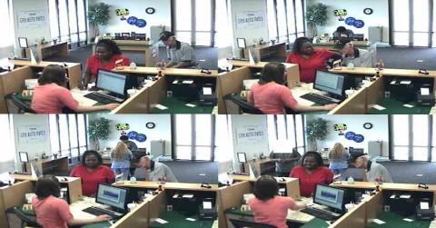 Bank Surveillance Photos of the Woman.